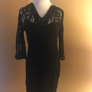 EUC black cocktail dress